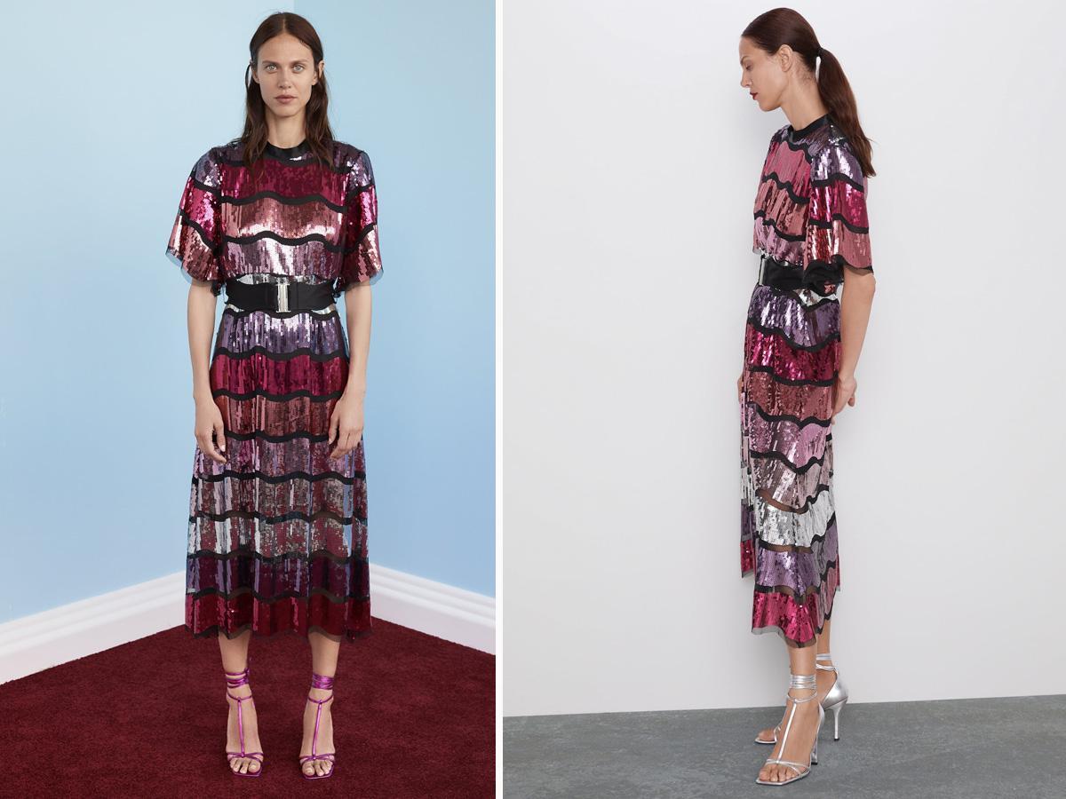 Cekinowa sukienka - Zara jesień 2019