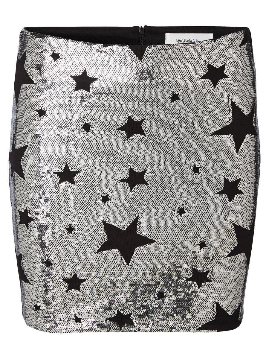 spódnica Vero Moda w gwiazdki z cekinami
