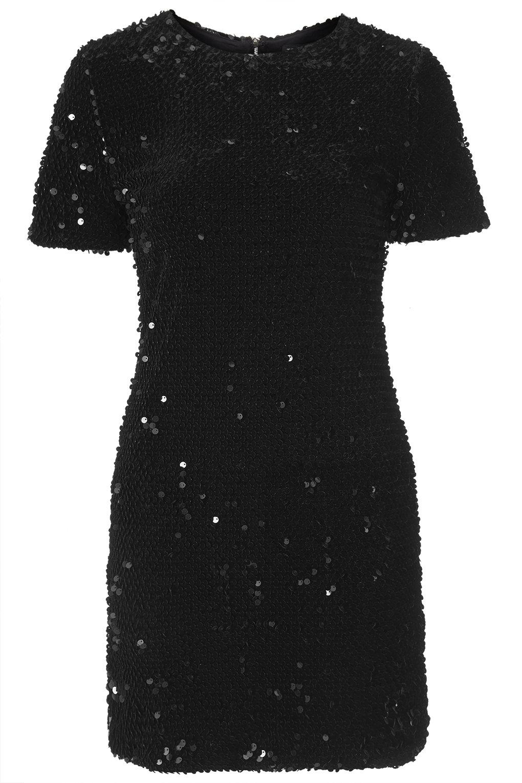 fc3b61f757 czarna sukienka Topshop z cekinami - Cekinowe sukienki - Trendy ...