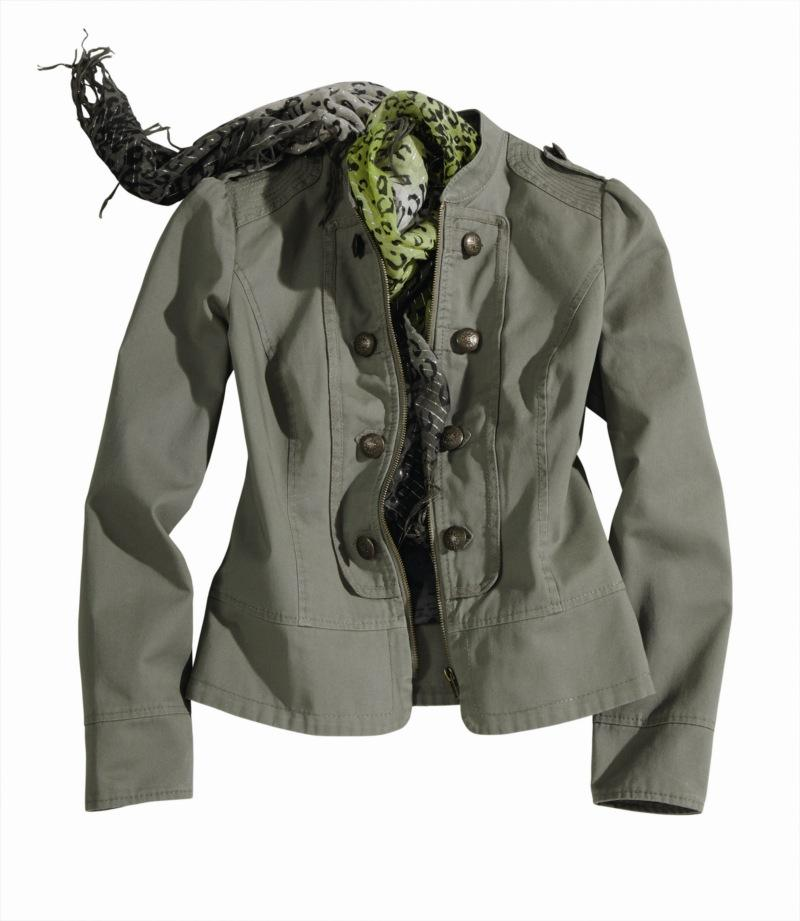 khaki kurtka Charles Vögele - letnia kolekcja
