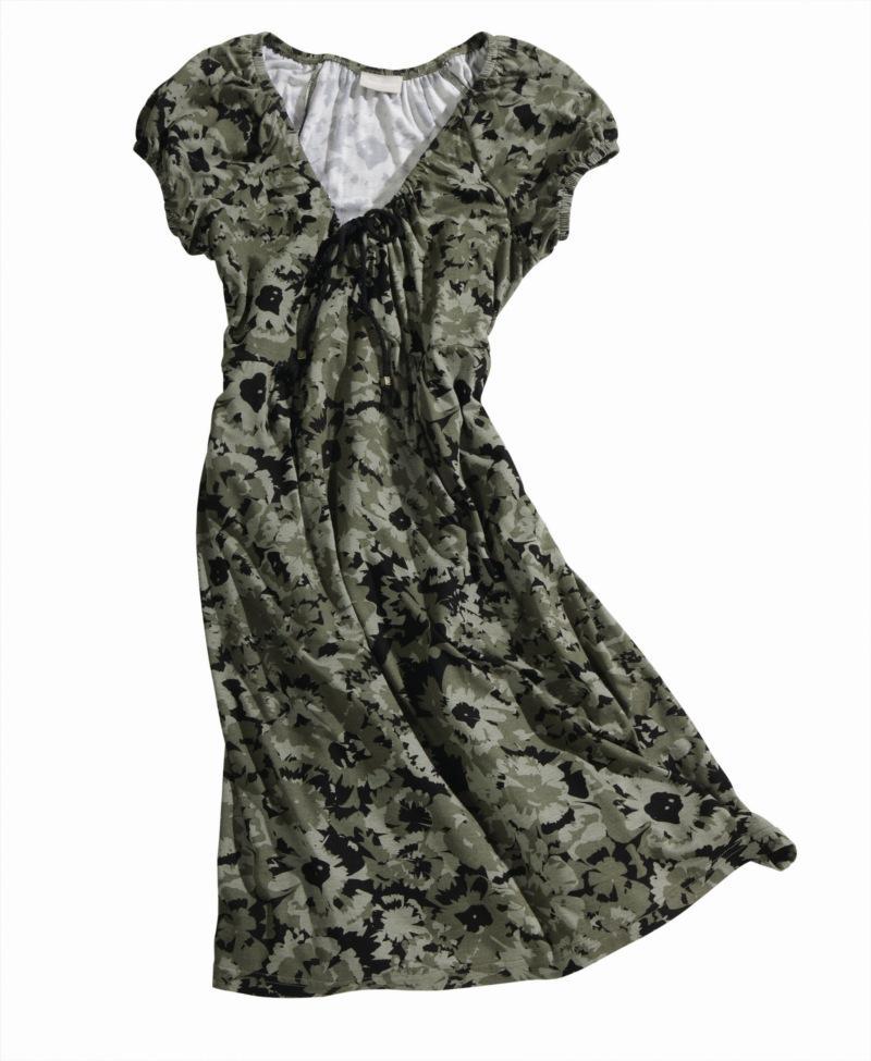 khaki sukienka Charles Vögele - wiosna-lato 2011