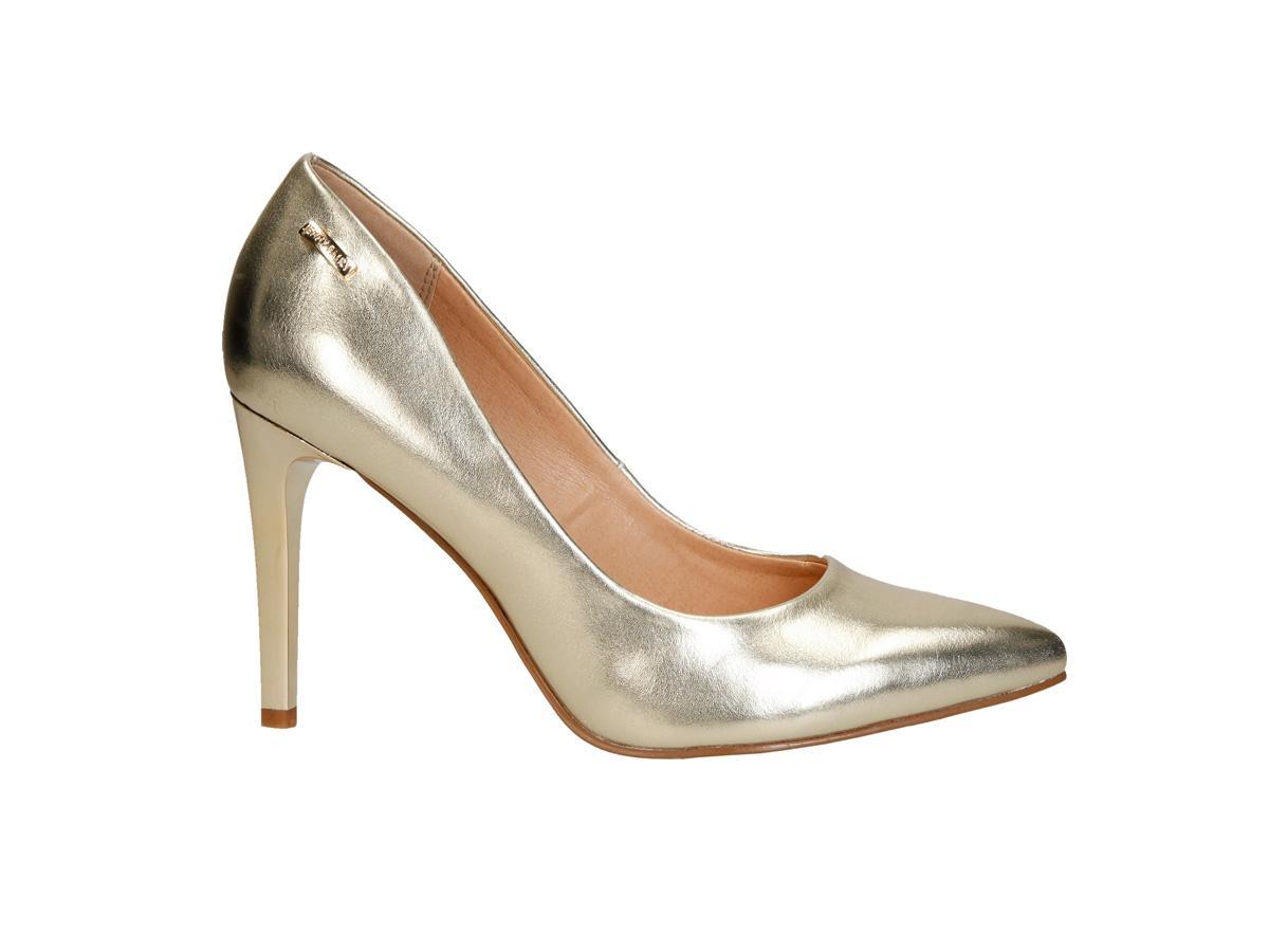 7df1ef1beb48d3 Złote szpilki CCC, cena, ok. 99,99 zł - Modne buty CCC - propozycje ...