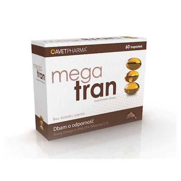 Mega Tran w kapsułkach, cena ok. 5 zł (opakowanie 60 kapsułek)