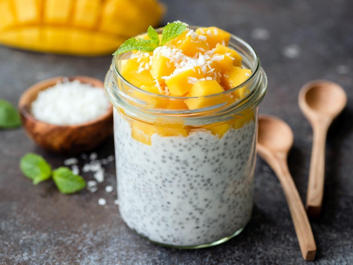 Chia pudding z mango