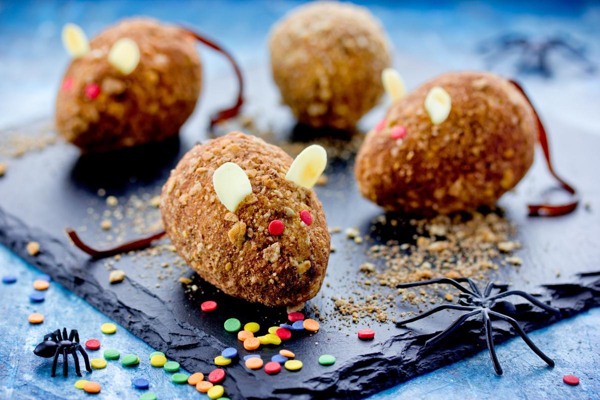 ciastka na halloween - myszy