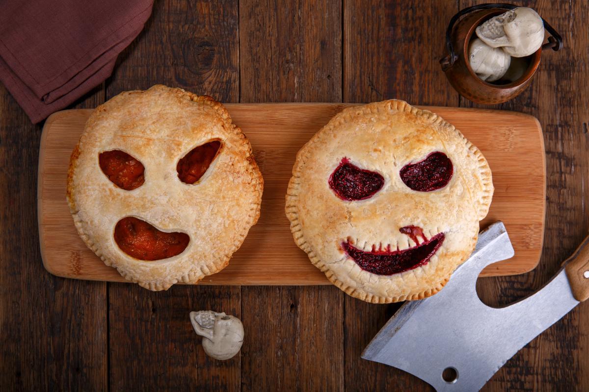 Ciastka na Halloween straszne buzie