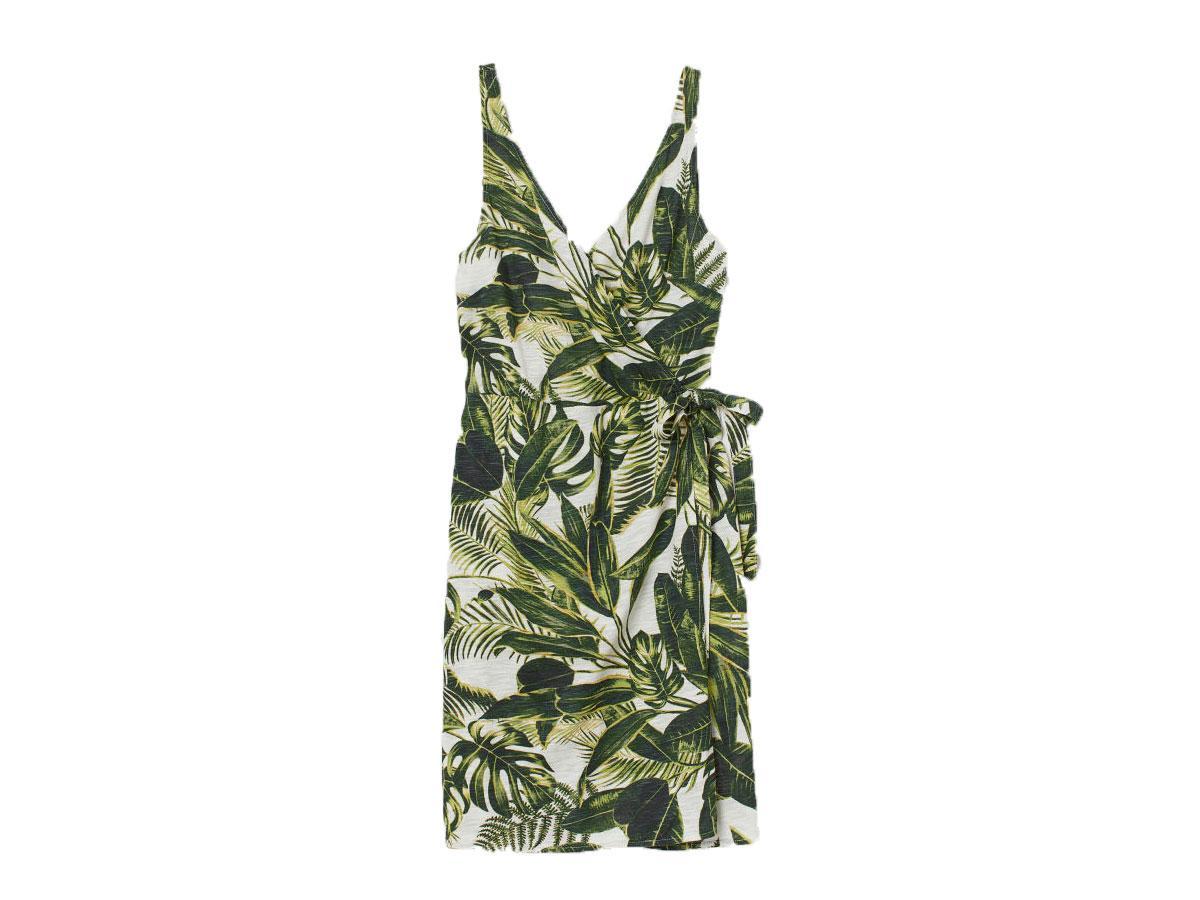 Letnia sukienka w liście, H&M, cena ok. 59,99 zł