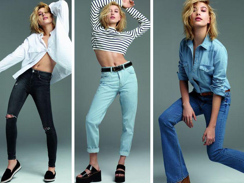 Hailey Baldwin - Topshop Jeans