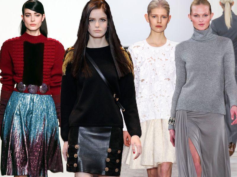 fb7b8633ab Jak stylizować długie spódnice - Modne ubrania jesień-zima - Trendy ...