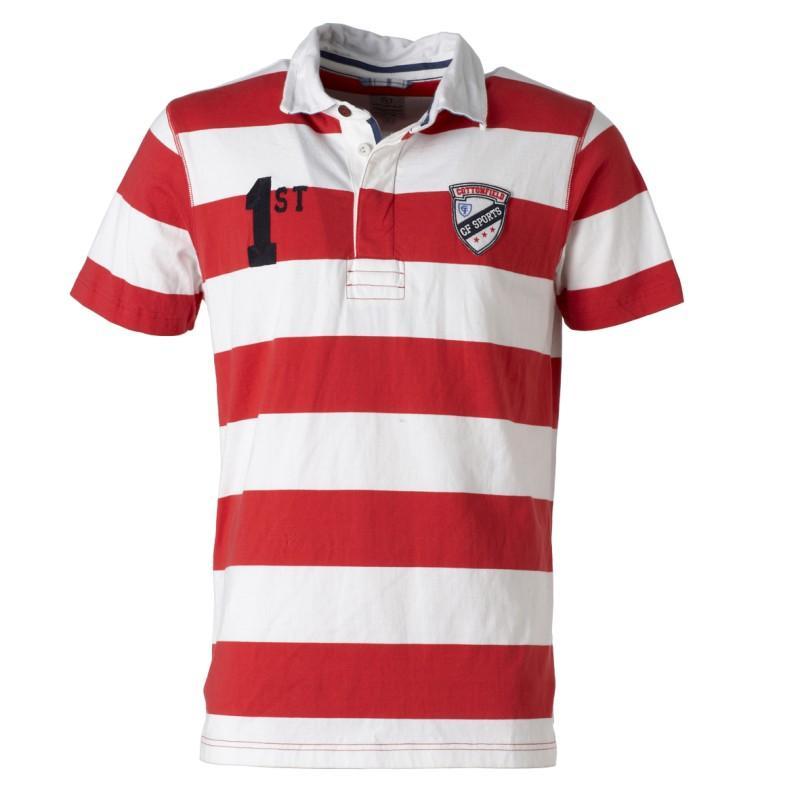 koszulka Cottonfield w pasy polo - moda wiosna/lato