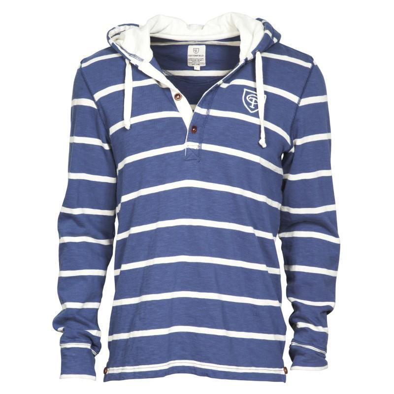 niebieska bluza Cottonfield w paski - moda wiosna/lato