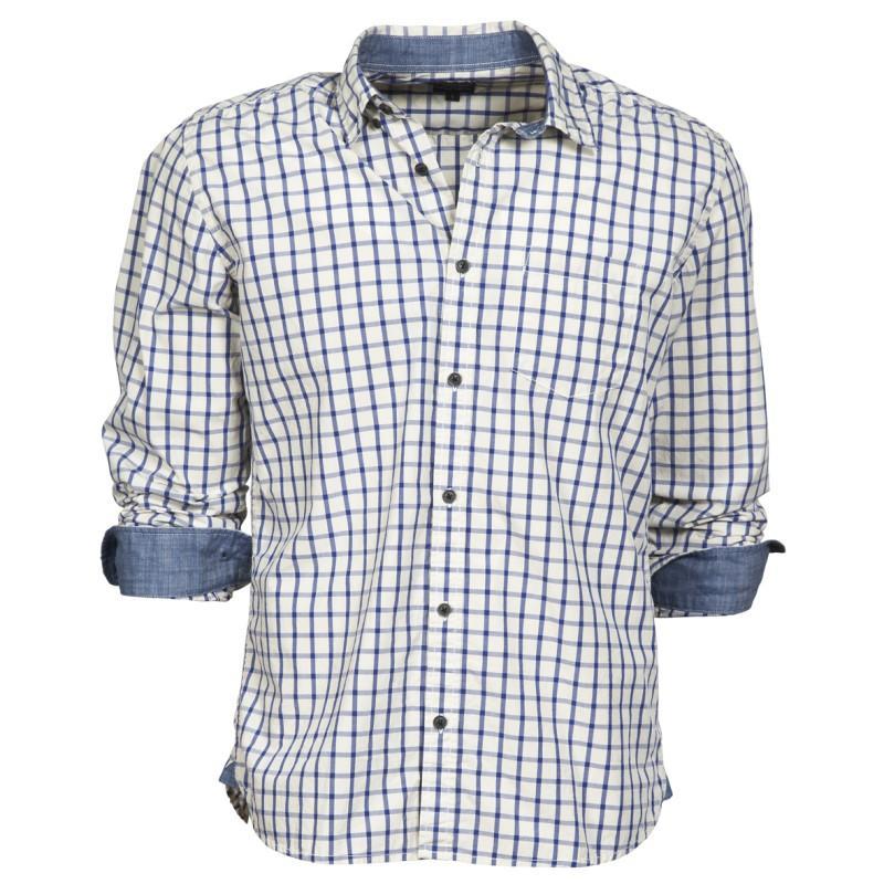 biała koszula Cottonfield w kratkę - kolekcja wiosenno/letnia