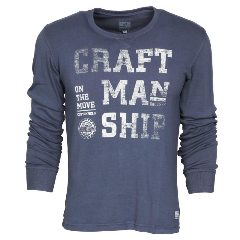 granatowa bluzka Cottonfield z nadrukiem - moda wiosna/lato