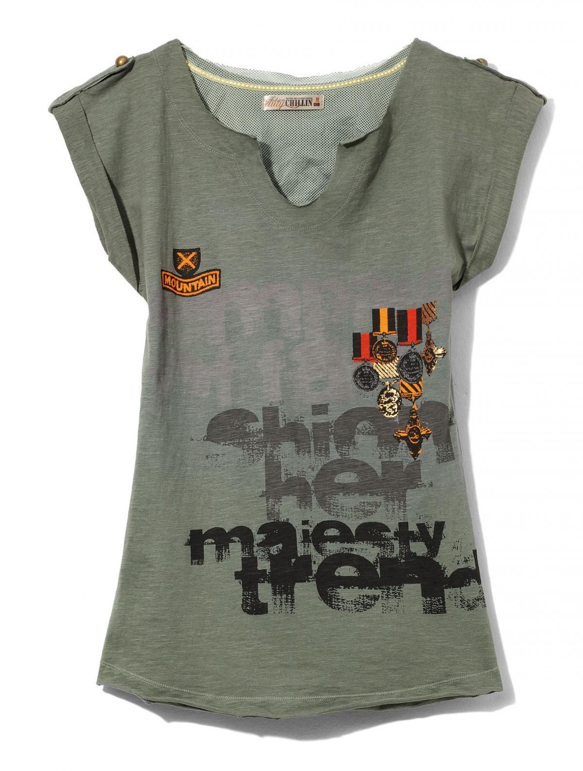popielaty t-shirt Cropp - wiosna 2011