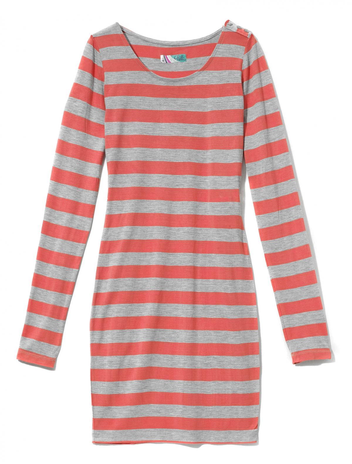 czerwony sweter Cropp w paski - wiosna 2011