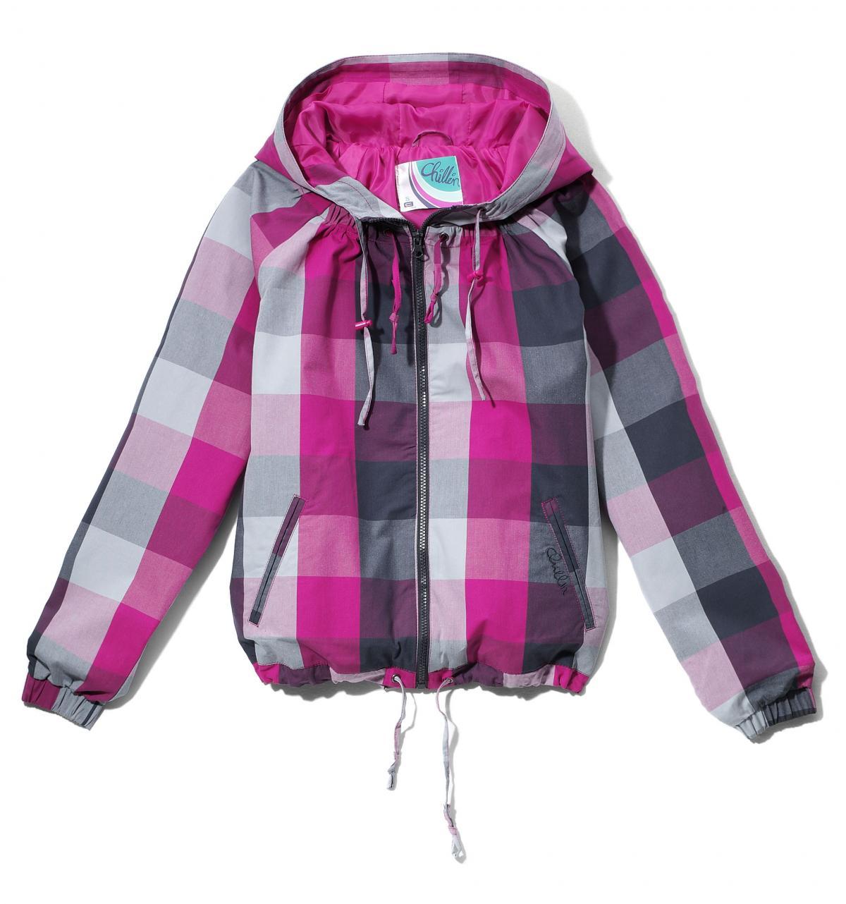 różowa kurtka Cropp w kratkę - wiosna 2011