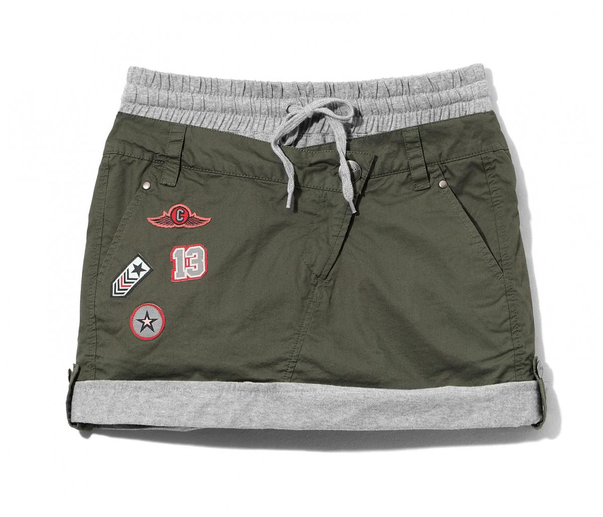 khaki spódnica Cropp - wiosna 2011