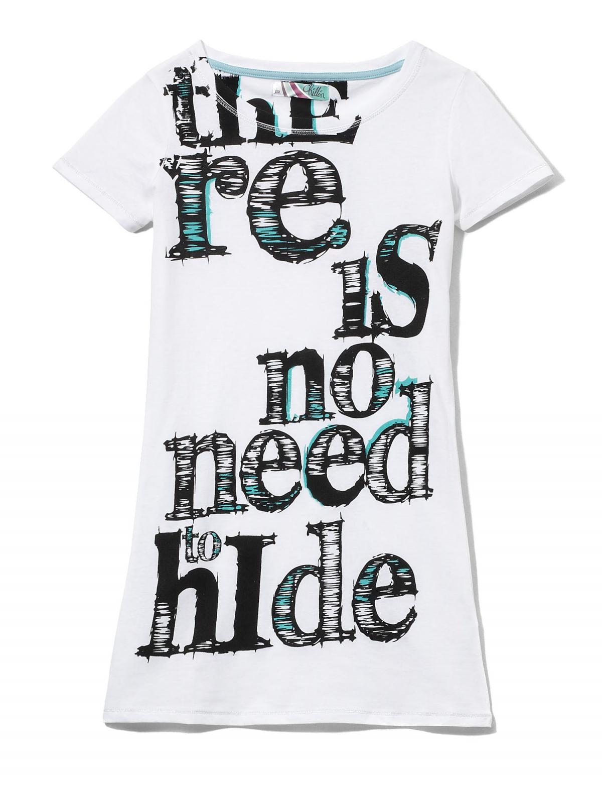 biały t-shirt Cropp z nadrukiem - wiosna 2011