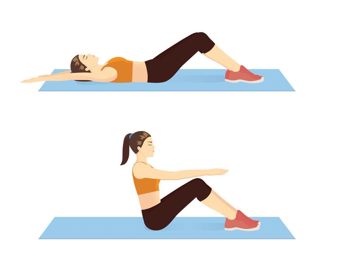 Ćwiczenia na brzuch dla początkujących: brzuszki