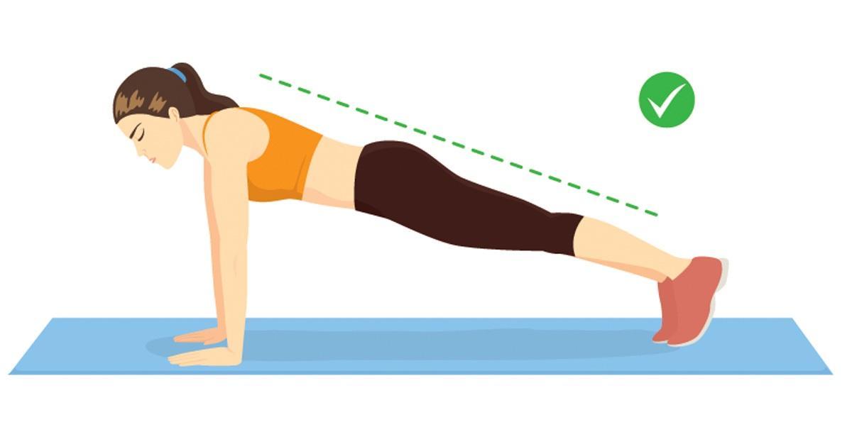 Ćwiczenia na brzuch dla początkujących: deska