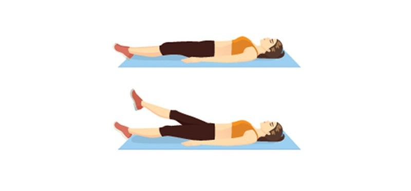 Ćwiczenia na brzuch po ciąży: nożyce