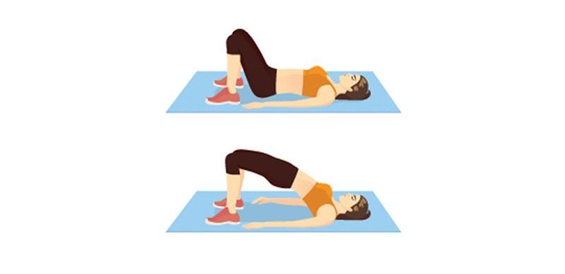 Ćwiczenia na brzuch po ciąży: unoszenie bioder