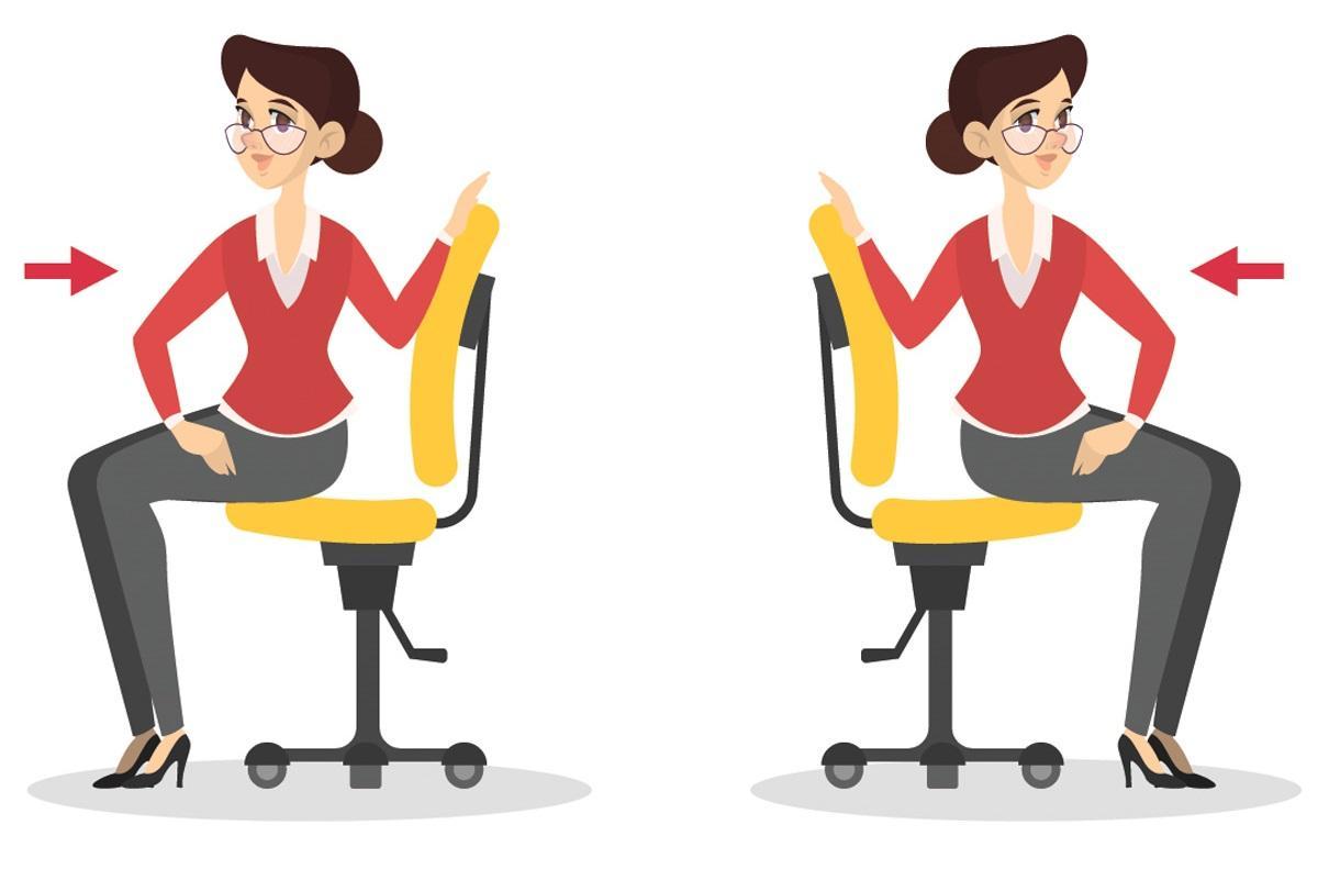 Ćwiczenia przy biurku: skręty tułowia
