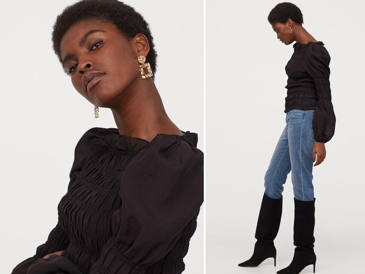 Czarna bluzka H&M