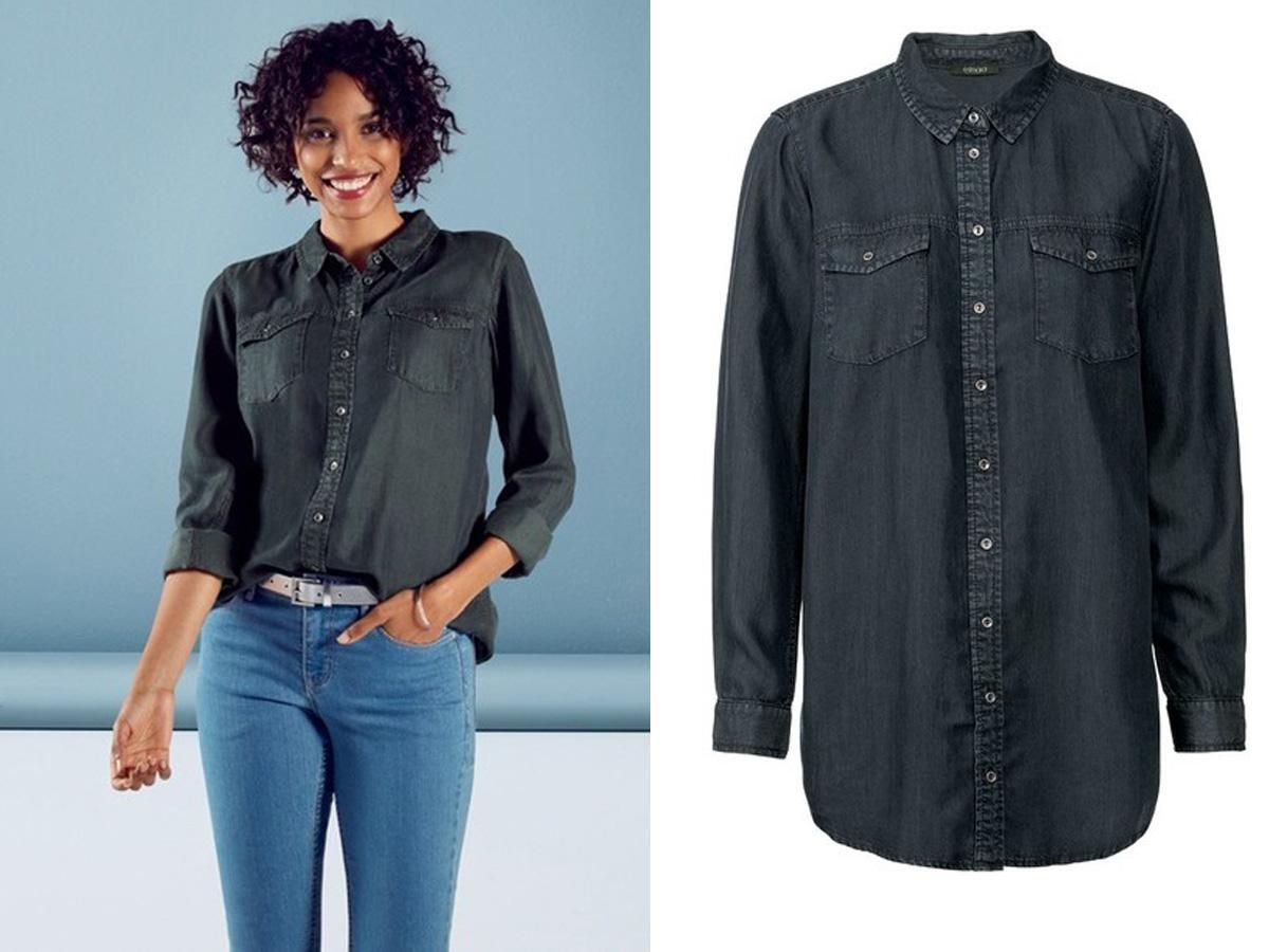 czarna koszula jeansowa Lidl