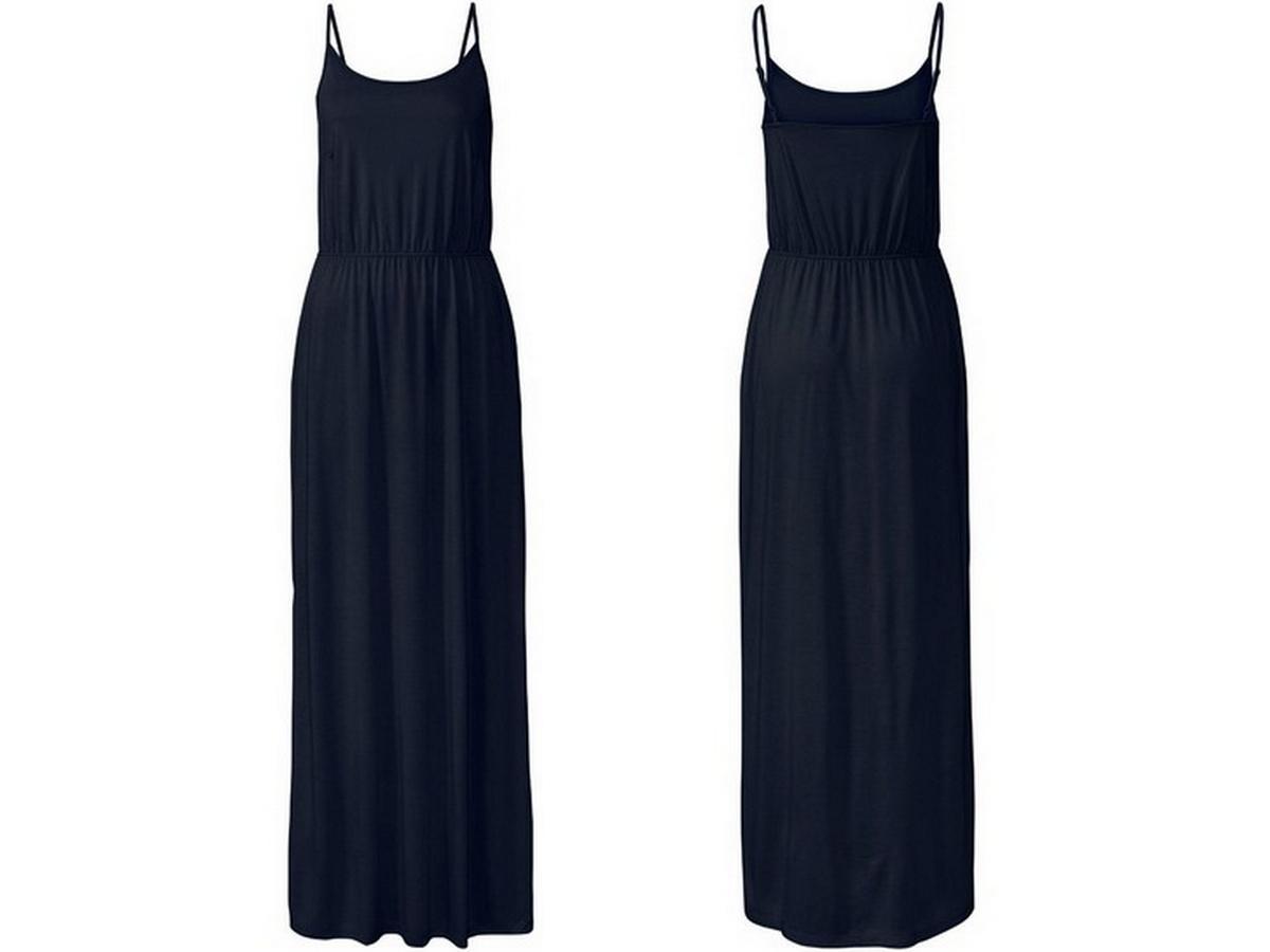czarna maxi sukienka z Lidla