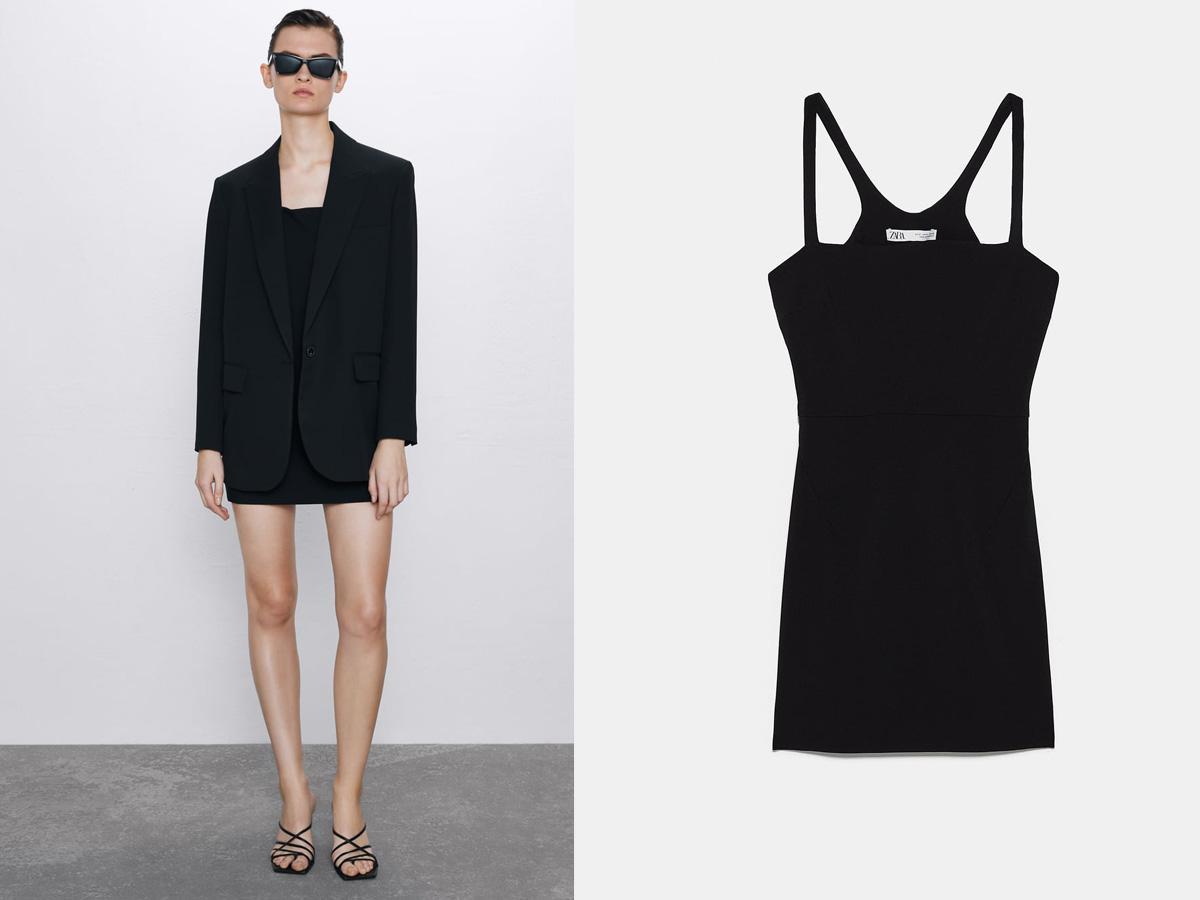 czarna sukienka Zara