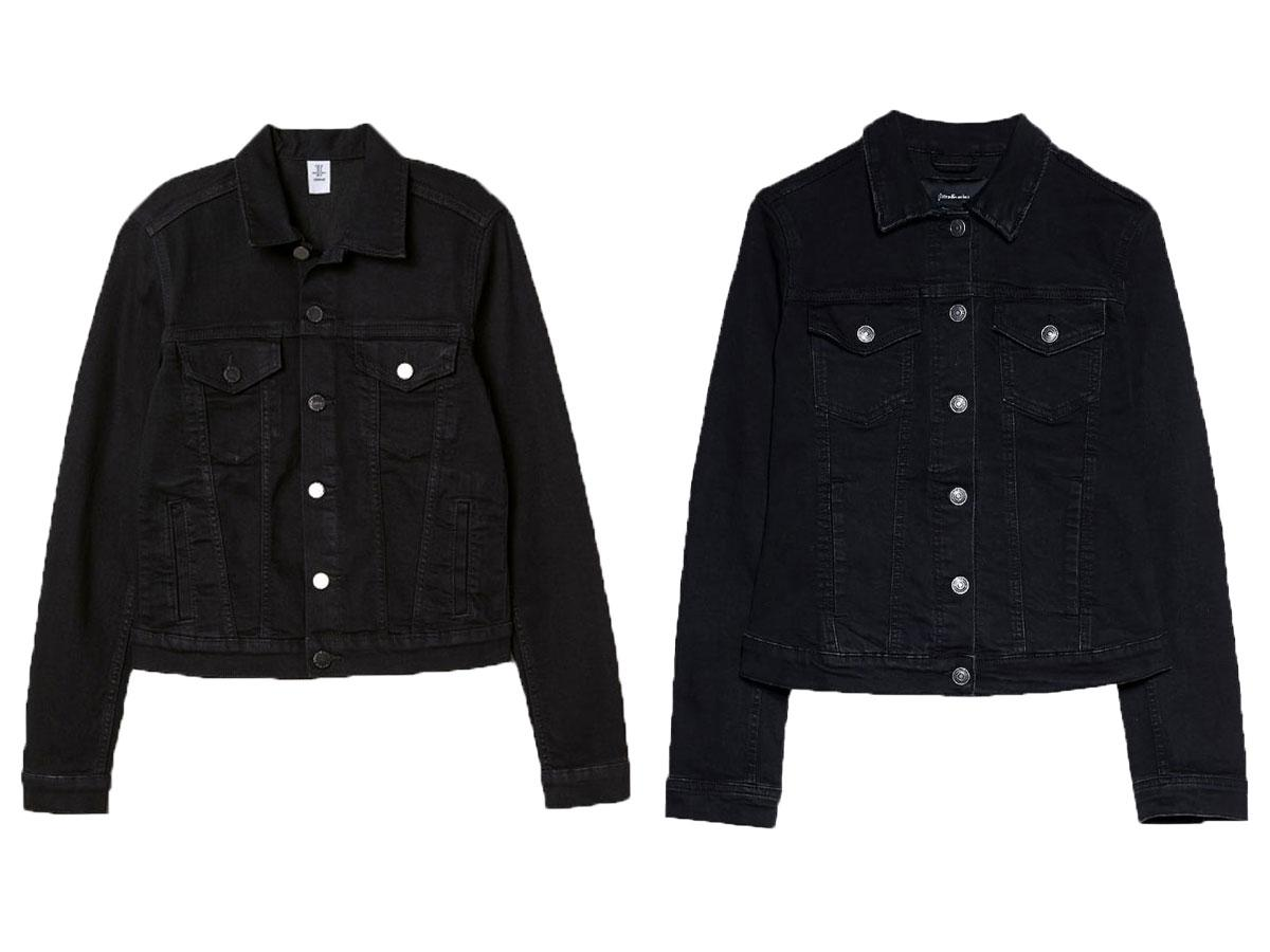 Czarne kurtki dżinsowe z sieciówek