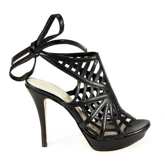czarne sandały Venezia - kolekcja wiosenno/letnia