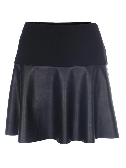 Czarne skórzane spódnice - 15 modnych krojów