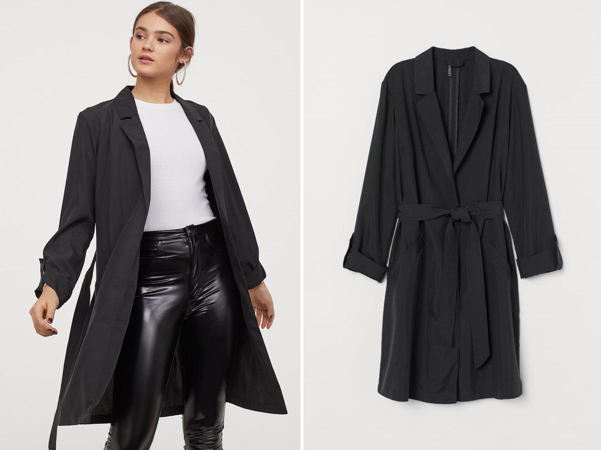czarny płaszcz H&M