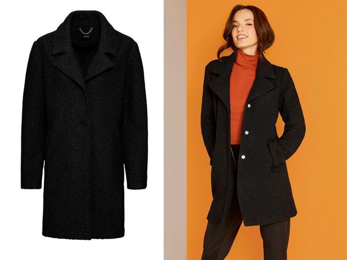 Czarny płaszcz Lidl