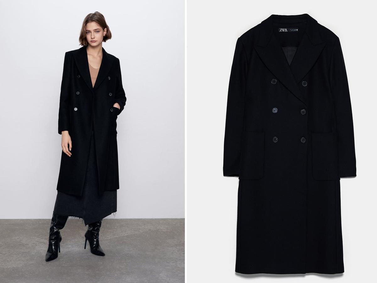 czarny płaszcz z Zary
