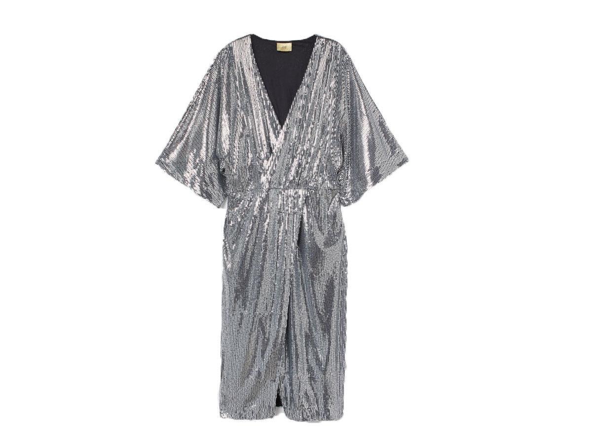 Cekinowa sukienka, H&M, cena ok. 299,00 zł