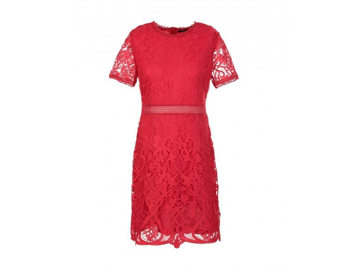 Czerwona sukienka z koronki, Femestage, cena ok. 99,95 zł
