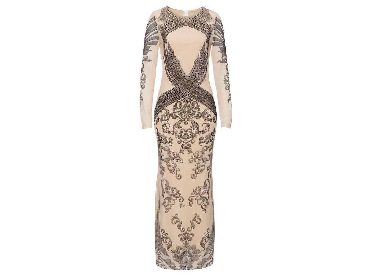 Suknia wieczorowa we wzory, Bonprix, cena ok. 89,90 zł