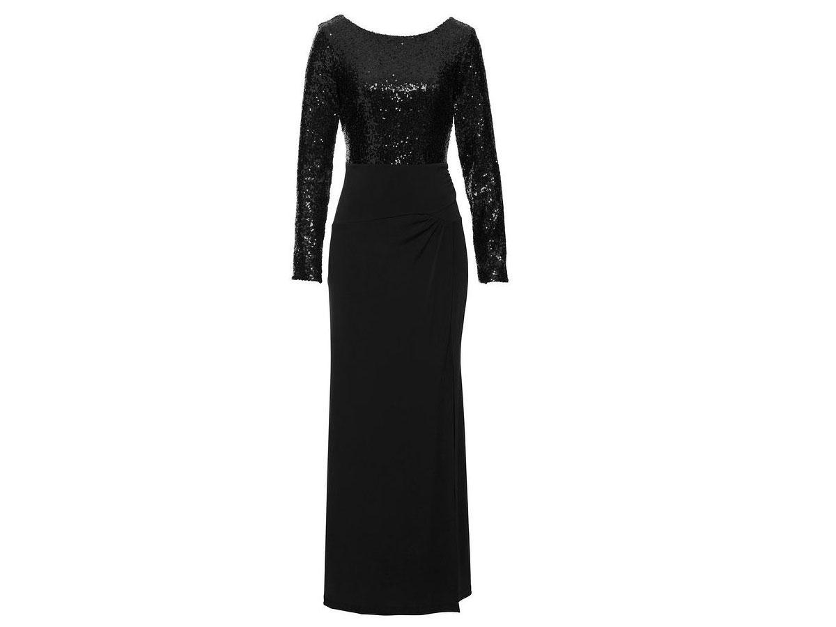 Suknia wieczorowa z cekinową górą, Bonprix, cena ok. 199,99 zł