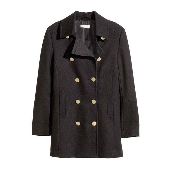 Czarny płaszcz H&M, cena