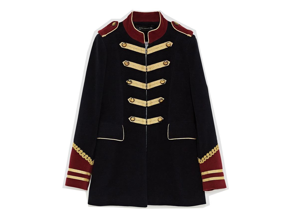 183f7d25258b5 Marynarka w militarnym stylu Zara, cena, ok. 399 zł - MARYNARKI ZARA ...