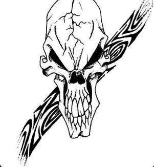 Czaszki – czarno-białe wzory tatuaży (galeria)