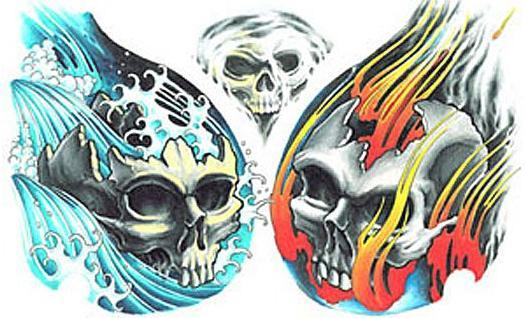Czaszki – kolorowe wzory tatuaży (galeria)