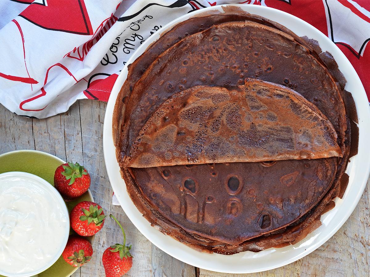 przepis na naleśniki czekoladowe