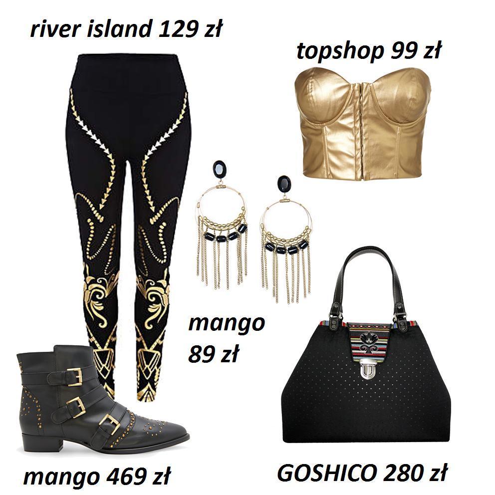 Czerń i złoto - modne stylizacje
