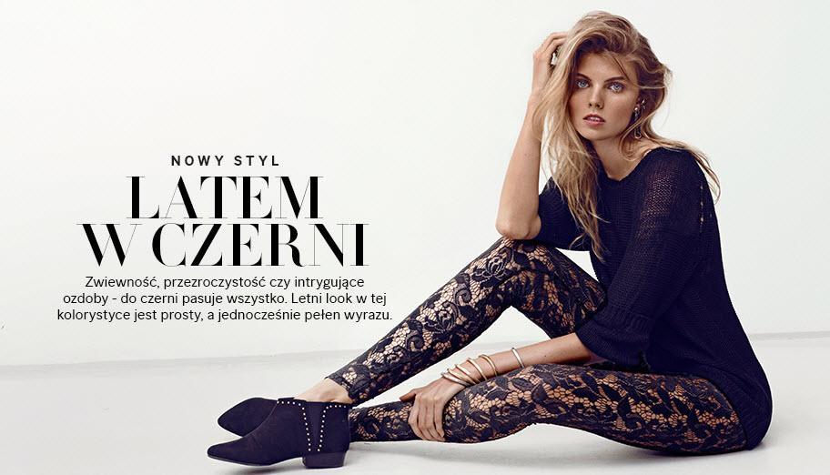 Czerń noszona latem - H&M 2013