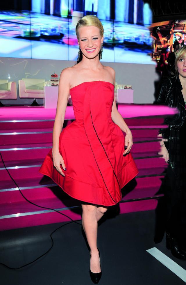 Małgorzata Kożuchowska czerwona sukienka