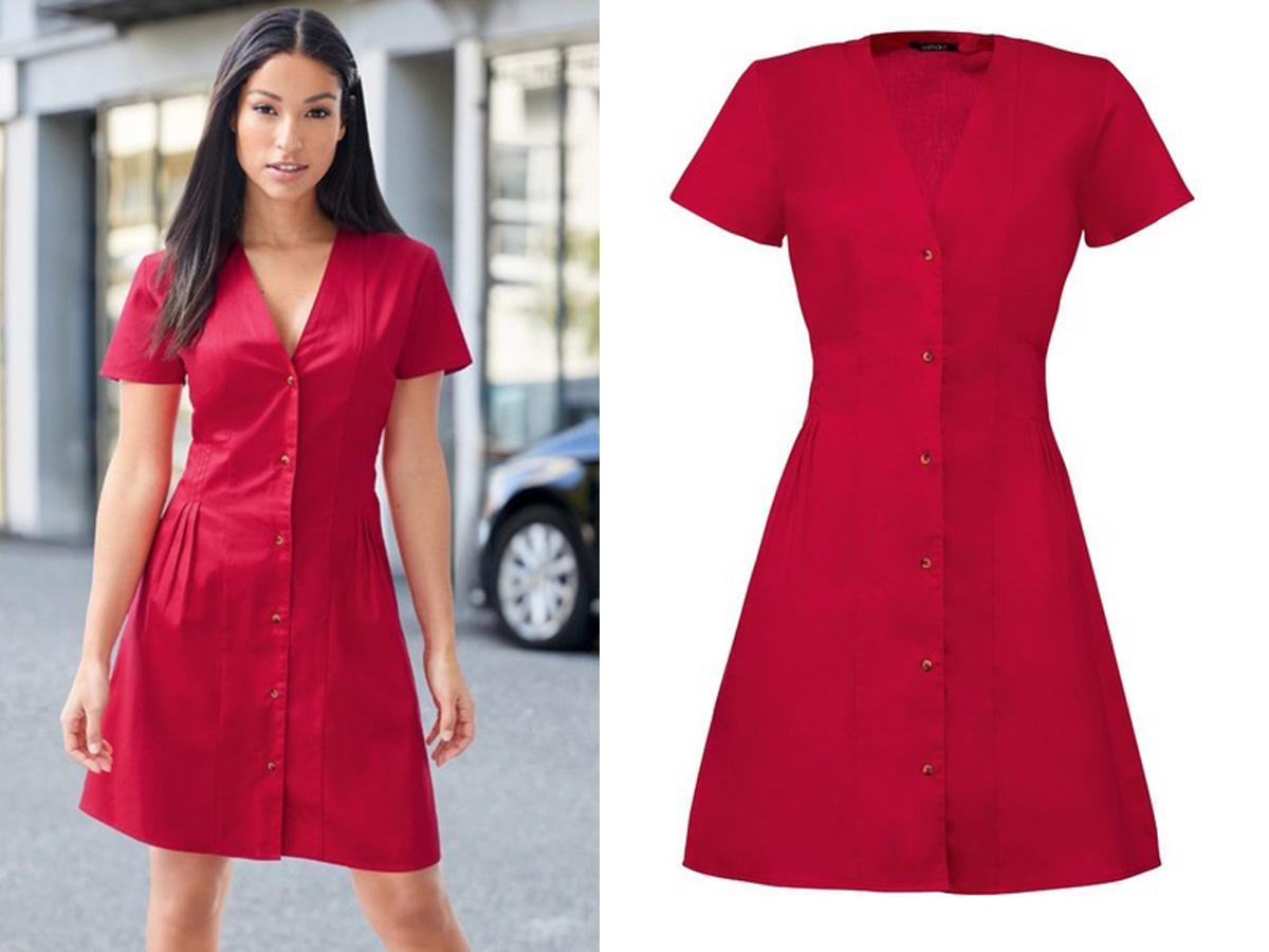 czerwona sukienka z Lidla za 29 zł